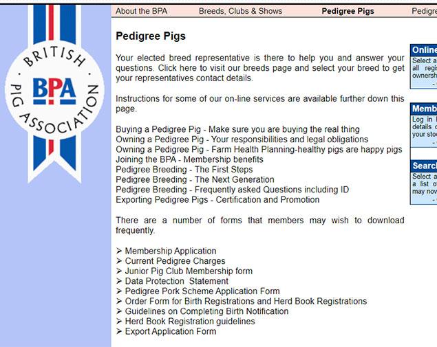 BPA pedigree pig services